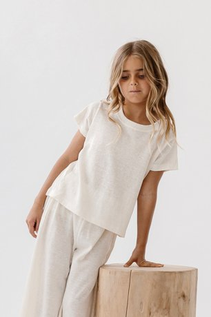 DAUGHTER / LOUNGE TEE / NATURAL LINEN KNIT