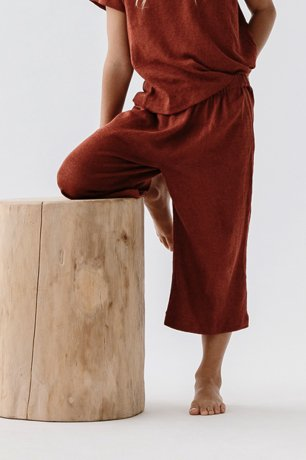 DAUGHTER / LOUNGE PANTS / POPPY LINEN KNIT