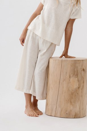DAUGHTER / LOUNGE PANTS / NATURAL LINEN KNIT