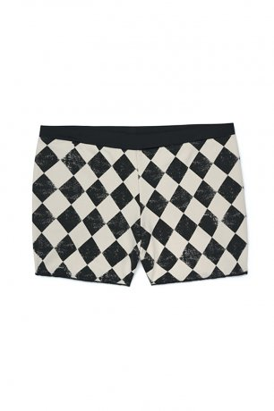 <img class='new_mark_img1' src='https://img.shop-pro.jp/img/new/icons8.gif' style='border:none;display:inline;margin:0px;padding:0px;width:auto;' />little creative factory / Diamond Bathing Shorts / Black & Cream / KS025