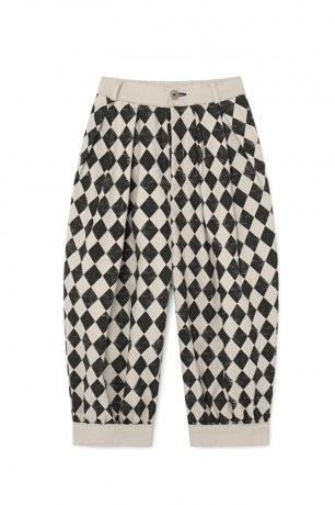 <img class='new_mark_img1' src='https://img.shop-pro.jp/img/new/icons8.gif' style='border:none;display:inline;margin:0px;padding:0px;width:auto;' />little creative factory / Diamond Trousers / Black & Cream / K071