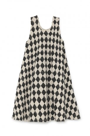 <img class='new_mark_img1' src='https://img.shop-pro.jp/img/new/icons8.gif' style='border:none;display:inline;margin:0px;padding:0px;width:auto;' />[Adult] little creative factory / Diamond Swing Dress / Black & Cream / K026