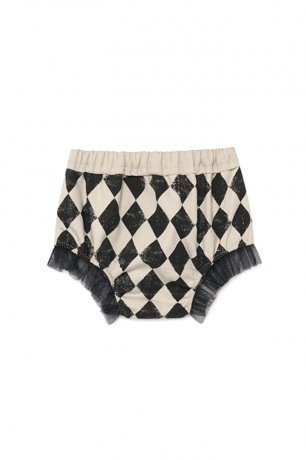<img class='new_mark_img1' src='https://img.shop-pro.jp/img/new/icons8.gif' style='border:none;display:inline;margin:0px;padding:0px;width:auto;' />little creative factory / Baby Diamond Culotte / Black & Cream / B054