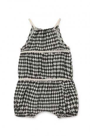 little creative factory / Baby Tiny Diamond Apron Body / Black / B029B