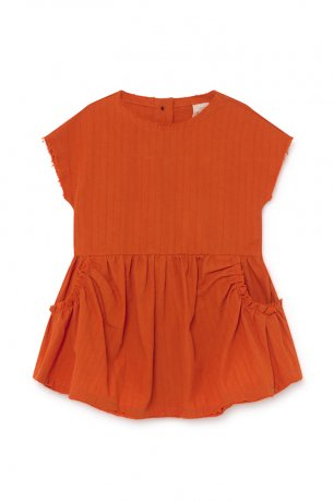 <img class='new_mark_img1' src='https://img.shop-pro.jp/img/new/icons8.gif' style='border:none;display:inline;margin:0px;padding:0px;width:auto;' />little creative factory / Baby Crushed Cotton Dress / Orange / B016B