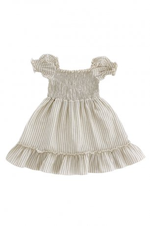 <img class='new_mark_img1' src='https://img.shop-pro.jp/img/new/icons8.gif' style='border:none;display:inline;margin:0px;padding:0px;width:auto;' />Liilu / Smocked dress / Sandy stripes