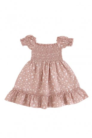 Liilu / Smocked dress / Flower petals
