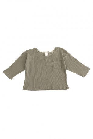 <img class='new_mark_img1' src='https://img.shop-pro.jp/img/new/icons8.gif' style='border:none;display:inline;margin:0px;padding:0px;width:auto;' />[2nd] Liilu / Rib shirt / Dry green