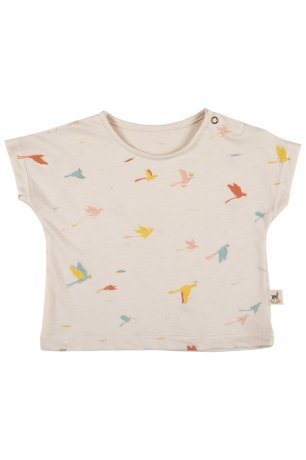 <img class='new_mark_img1' src='https://img.shop-pro.jp/img/new/icons8.gif' style='border:none;display:inline;margin:0px;padding:0px;width:auto;' />RED CARIBOU / T-Shirt / Tropical birds / Pink Tint / SS20-TP01-31