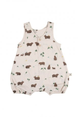 <img class='new_mark_img1' src='https://img.shop-pro.jp/img/new/icons8.gif' style='border:none;display:inline;margin:0px;padding:0px;width:auto;' />RED CARIBOU / Romper / Pally Capybara / Pink Tint / SS20-JS03-03