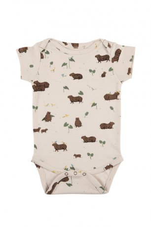 <img class='new_mark_img1' src='https://img.shop-pro.jp/img/new/icons8.gif' style='border:none;display:inline;margin:0px;padding:0px;width:auto;' />RED CARIBOU / Onesie S/S / Pally Capybara / Pink Tint / SS20-OS01-02