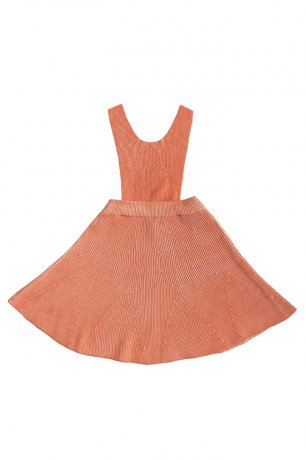 MABLI / Iola Pinafore / Burnt Sienna Parchment / MAB104