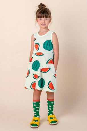 Nadadelazos / DRESS WADI WATERMELON / LIGHT CHIRIMOYA GREEN / SS20 VES.80.500 WADI