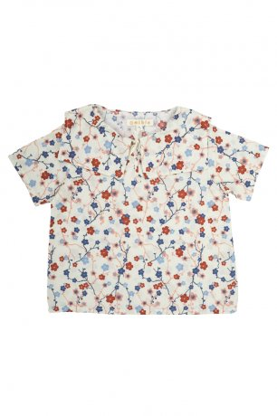 Omibia / DELIA Top / Cherry Flower Print / SS20W15