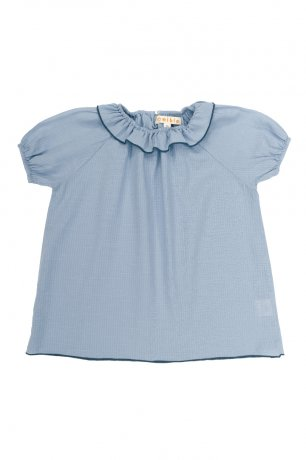 <img class='new_mark_img1' src='https://img.shop-pro.jp/img/new/icons8.gif' style='border:none;display:inline;margin:0px;padding:0px;width:auto;' />Omibia / REINA Blouse / Ice Blue / SS20W32