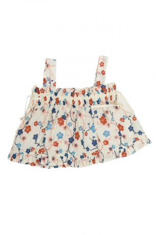Omibia / MARY Top / Cherry Flower Print / SS20W10