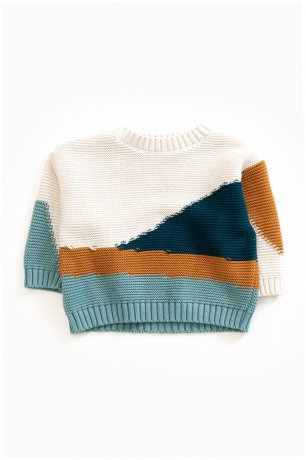 PLAY UP / Knitted Sweater / PEARL / 3AG11203