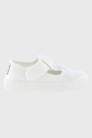 victoria / CANVAS T-STRAP SHOES 36625 / BLANCO