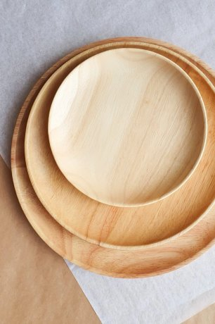 DOVE AND DOVELET / WOOD PLATE - MEDIUM