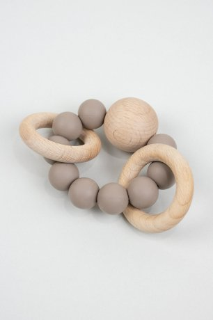 DOVE AND DOVELET / SATURN silicone teething toy / TAUPE