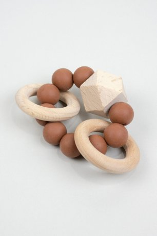 DOVE AND DOVELET / TITAN silicone teething toy / SPECKLED CLAY