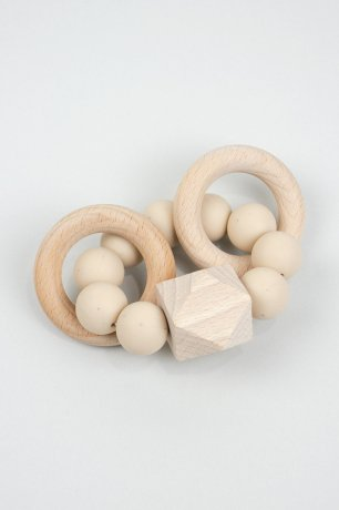 DOVE AND DOVELET / TITAN silicone teething toy / SANDSTONE
