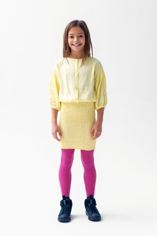 THE CAMPAMENTO / YELLOW SMOCKED DRESS / TC-AW20-55