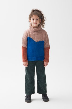 THE CAMPAMENTO / COLOR BLOCK SWEATER / TC-AW20-29