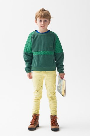 THE CAMPAMENTO / GREEN CONTRASTED SWEATSHIRT / TC-AW20-24