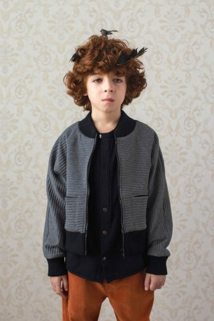 popelin / knitted jacket / Grey / Mod.33.1