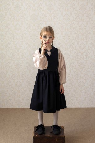 popelin / pinafore dress / Black / Mod.29.3