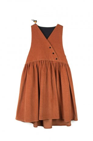popelin / pinafore dress / Orange / Mod.29.2
