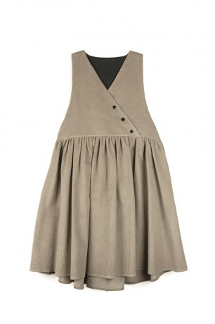 popelin / pinafore dress / Stone / Mod.29.1