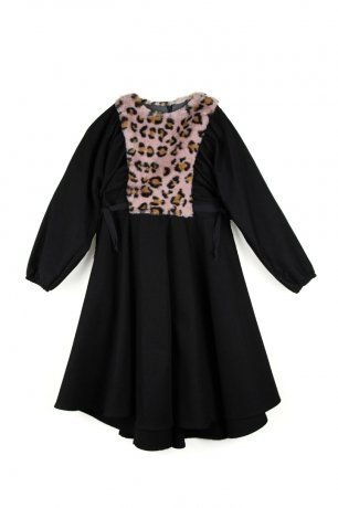 popelin / cape dress / Black / Mod.28.2