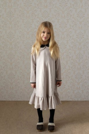popelin / double collar dress / Sand / Mod.27.2