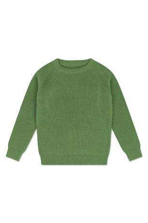 REPOSE AMS / KNIT RAGLAN SWEATER / HUNTER GREEN