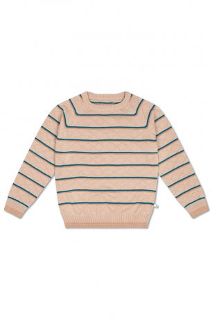 REPOSE AMS / KNIT RAGLAN SWEATER / STRANGER STRIPE