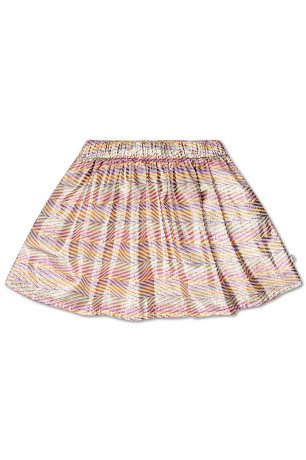REPOSE AMS / SHORT SKIRT / ZIG ZAG SPARKLE RAINBOW