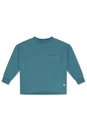 REPOSE AMS / SWEAT TEE / DARK DUSTY BLUE