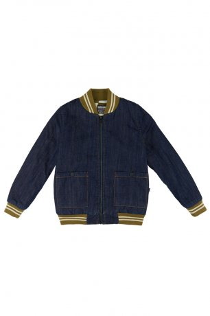 CarlijnQ / bomberjacket + embroidery (lined with checkers) / denim / CKR11