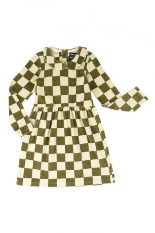 [vol.2] CarlijnQ / skater dress with collar / checkers / CKR03