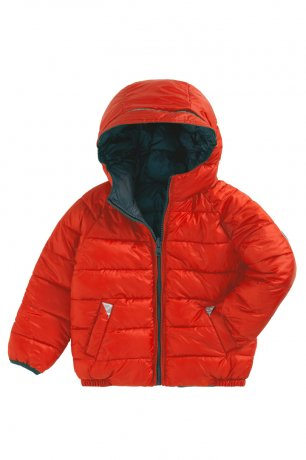 TOASTIE / REVERSIBLE PUFFER / CLEMENTINE/TEAL