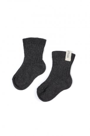 Phil&Phae / Ribbed baby socks / 663791 / Charcoal