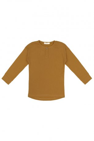 Phil&Phae / Rib henley top l/s / 203109 / golden olive