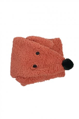 """[2nd] tinycottons / """"TINY DOG"""" SHERPA SCARF / sienna / AW20-334"""
