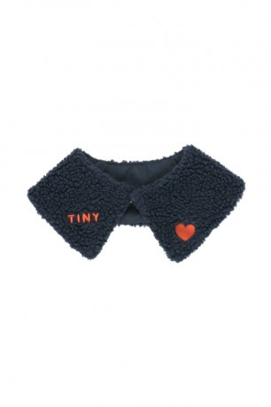 """[2nd] tinycottons / """"TINY"""" SHERPA COLLAR / navy / AW20-332"""