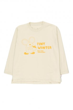 """[2nd] tinycottons / """"MOUSE"""" TEE / beige/yellow / AW20-028"""