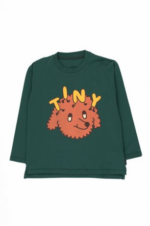 "[vol.2] tinycottons / ""TINY DOG"" TEE / dark green/sienna / AW20-027"