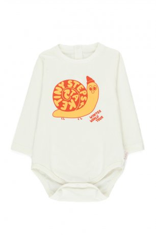"""tinycottons / """"TINY STEPS"""" BODY / off-white/yellow / AW20-044"""