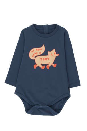 """[2nd] tinycottons / """"TINY FOX"""" BODY / light navy/cappuccino / AW20-043"""
